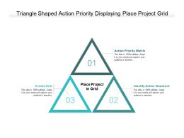 Triangle Shaped Action Priority Displaying Place Project Grid