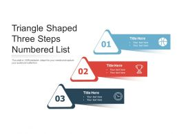 Triangle Shaped Three Steps Numbered List