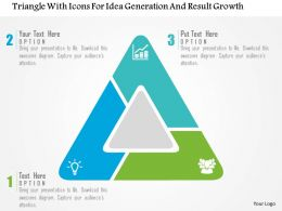 Triangle With Icons For Idea Generation And Result Growth Flat Powerpoint Design