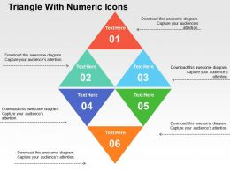 Triangle With Numeric Icons Flat Powerpoint Design