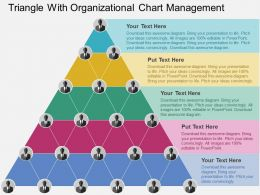 Triangle With Organizational Chart Management Flat Powerpoint Design