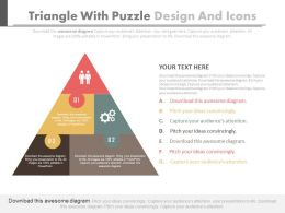Triangle With Puzzle Design And Icons Flat Powerpoint Design