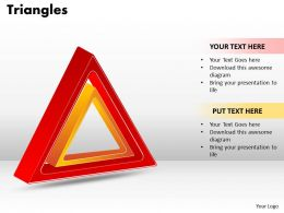 Triangles diagram ppt 10