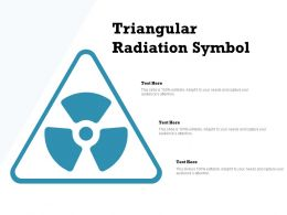 Triangular Radiation Symbol