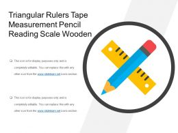 Triangular Rulers Tape Measurement Pencil Reading Scale Wooden
