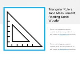 Triangular Rulers Tape Measurement Reading Scale Wooden