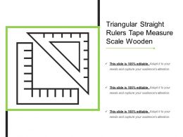 Triangular Straight Rulers Tape Measure Scale Wooden