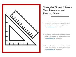 Triangular Straight Rulers Tape Measurement Reading Scale