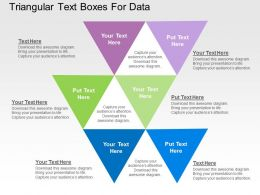 Triangular Text Boxes For Data Flat Powerpoint Design