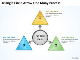 Triganle Circle Arrow One Many Process 21