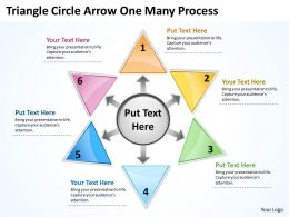 Triganle Circle Arrow One Many Process 37