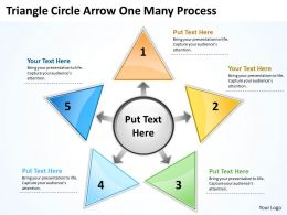 Triganle Circle Arrow One Many Process 38