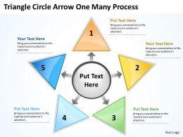 Triganle Circle Arrow One Many Process 38