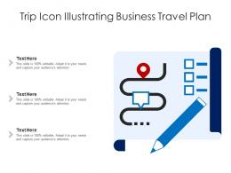 Trip Icon Illustrating Business Travel Plan