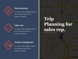 Trip Planning For Sales Rep Ppt Slide Examples