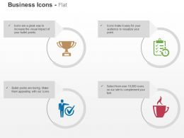 Trophy Checklist Correct Selection Coffee Ppt Icons Graphics