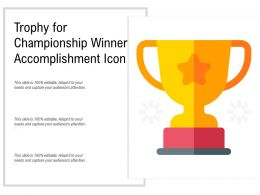 Trophy For Championship Winner Accomplishment Icon