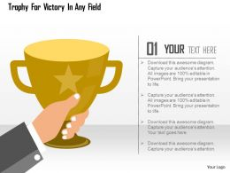 Trophy For Victory In Any Field Flat Powerpoint Design