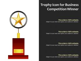 Trophy Icon For Business Competition Winner