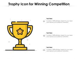 Trophy Icon For Winning Competition