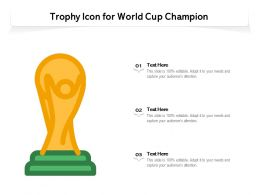 Trophy Icon For World Cup Champion