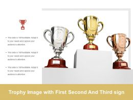 Trophy Image With First Second And Third Sign