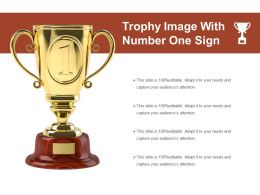 Trophy Image With Number One Sign