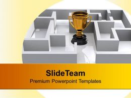 trophy_in_labyrinth_competition_powerpoint_templates_ppt_backgrounds_for_slides_0113_Slide01