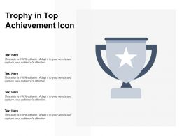 Trophy In Top Achievement Icon