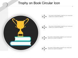 Trophy On Book Circular Icon