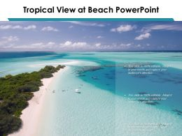 Tropical View At Beach Powerpoint