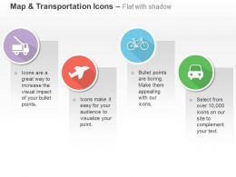 Truck Aeroplane Cycle Car Ppt Icons Graphics