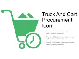 Truck And Cart Procurement Icon