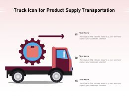 Truck Icon For Product Supply Transportation