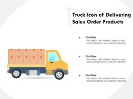 Truck Icon Of Delivering Sales Order Products