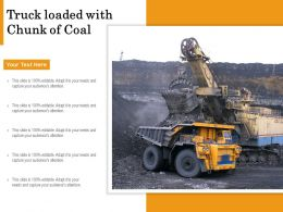 Truck Loaded With Chunk Of Coal