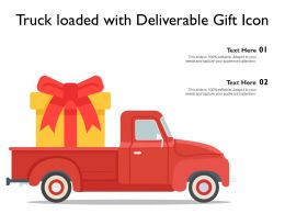 Truck Loaded With Deliverable Gift Icon