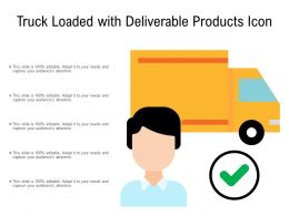 Truck Loaded With Deliverable Products Icon