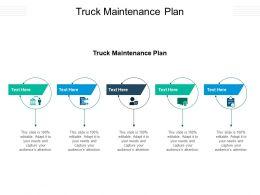 Truck Maintenance Plan Ppt Powerpoint Presentation Professional Designs Download Cpb