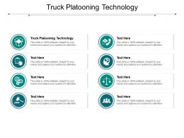 Truck Platooning Technology Ppt Powerpoint Presentation Icon Background Cpb