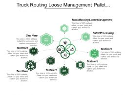 Truck Routing Loose Management Pallet Processing Physical Counting
