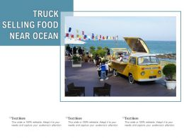 Truck Selling Food Near Ocean