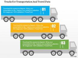 Trucks For Transportation And Travel Data Flat Powerpoint Design