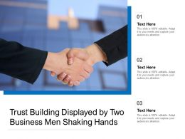 Trust Building Displayed By Two Business Men Shaking Hands