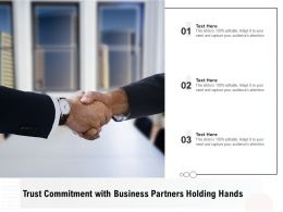 Trust Commitment With Business Partners Holding Hands