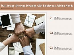 Trust Image Showing Diversity With Employees Joining Hands