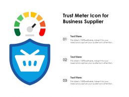 Trust Meter Icon For Business Supplier