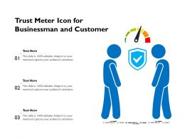 Trust Meter Icon For Businessman And Customer