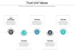 Trust Unit Values Ppt Powerpoint Presentation Portfolio Professional Cpb