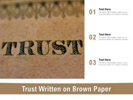 Trust Written On Brown Paper